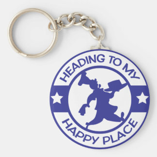 A259 happy place pastry chef blue key ring