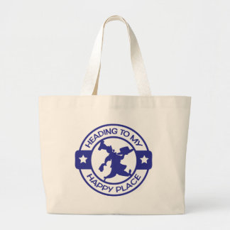 A259 happy place pastry chef blue jumbo tote bag