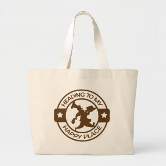 A259 happy place pastry chef brown jumbo tote bag