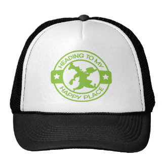 A259 happy place pastry chef lime green cap