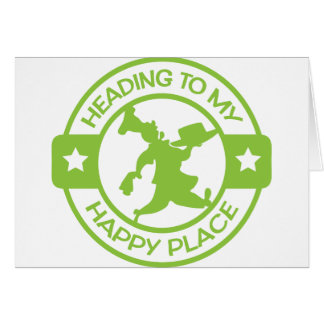 A259 happy place pastry chef lime green card