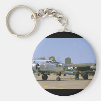 A26 Invader. (plane;a26_WWII Planes Basic Round Button Key Ring