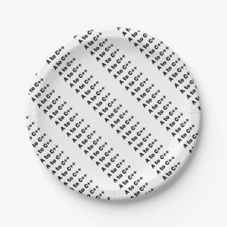 a2cplusplus 7 inch paper plate