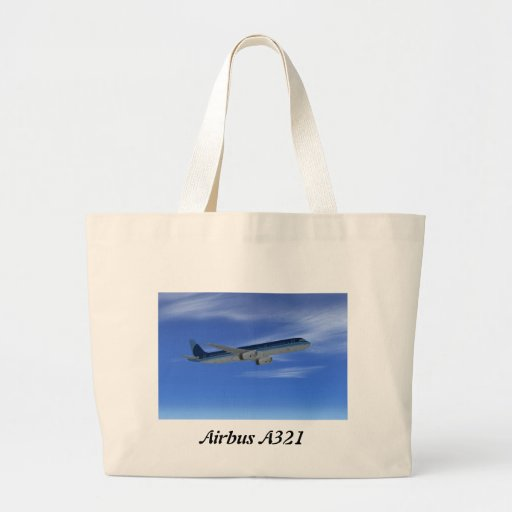 A321 Jet Airliner Aircraft Canvas Bag