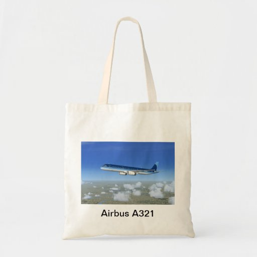 A321 Jet Airliner Aircraft Tote Bags