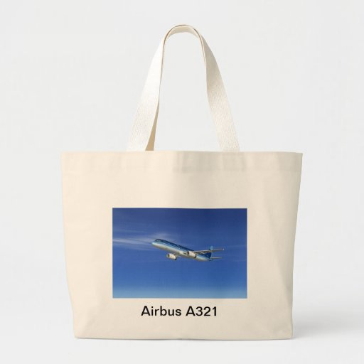 A321 Jet Airliner Aircraft Canvas Bags