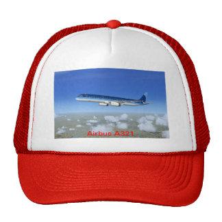 A321 Jet Airliner Aircraft Trucker Hats