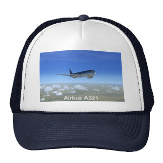 A321 Jet Airliner Aircraft Mesh Hats