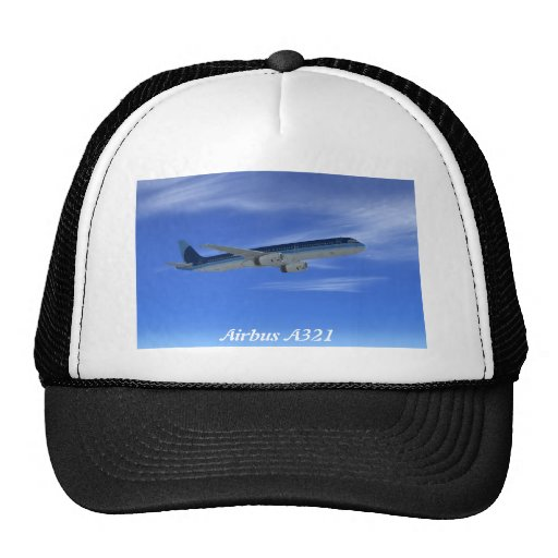 A321 Jet Airliner Aircraft Hats