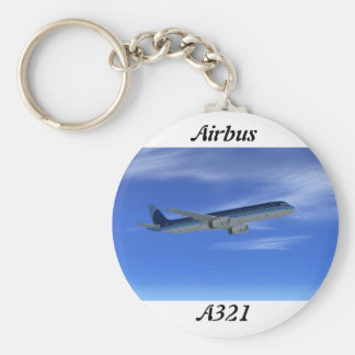 A321 Jet Airliner Aircraft Key Chains