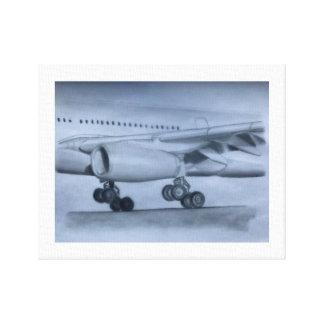 A330 Airbus landing Canvas Print
