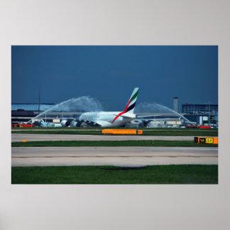 A380 Manchester Poster