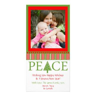 A3 PEACE Tree - Party White Xmas Holiday Photo Car Photo Greeting Card