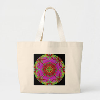 A42 Rose Window Mandala Large Tote Bag