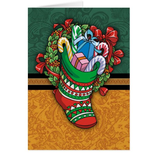 A7 5x7 Christmas Stocking Greeting Card