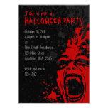 A7 Bloody Scream Halloween Invitations