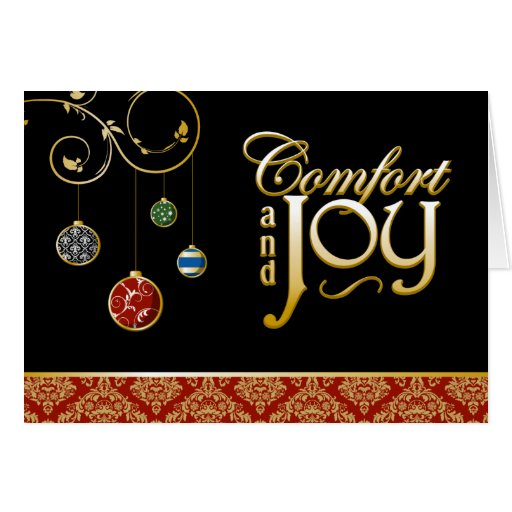 A7 Comfort and Joy Mod Ornaments Christmas Card