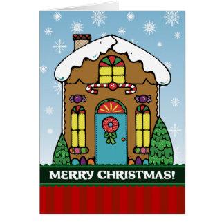A7 Gingerbread House Christmas Card