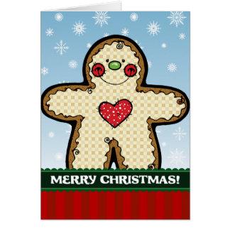 A7 Gingerbread Man Christmas Greeting Card