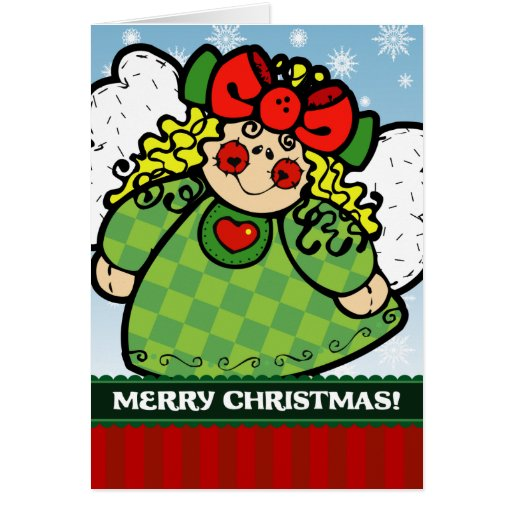 A7 Ragdoll Christmas Angel Holiday Greeting Card