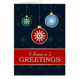 A7 Season's Greeting Mod Ornaments Christmas Card