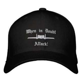 A-10 Attack Golf Hat W/Call Sign on Back