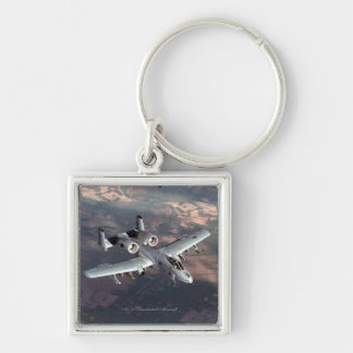 A-10 Thunderbolt Aircraft -Premium Square Keychain