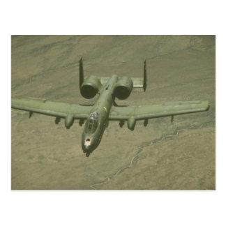 A-10 Warthog anti-tank aircraft, aerial shot Post Card