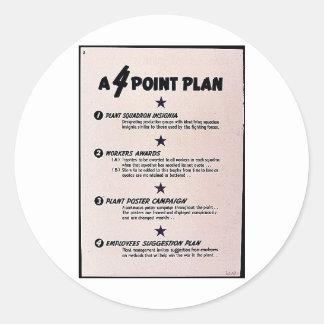 A 4 Point Plan Round Sticker