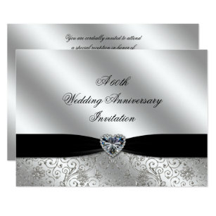 60th wedding anniversary invitations announcements zazzle a 60th diamond wedding anniversary 7x5 invite stopboris Gallery