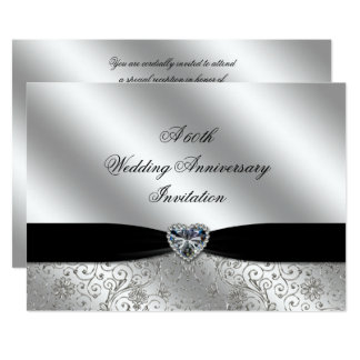 A 60th Diamond Wedding Anniversary 7x5 Invite