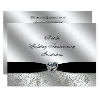 A 60th Diamond Wedding Anniversary 7x5 Invite