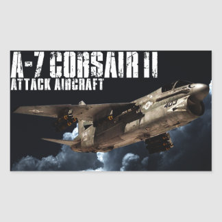 A-7 Corsair II Rectangle Stickers