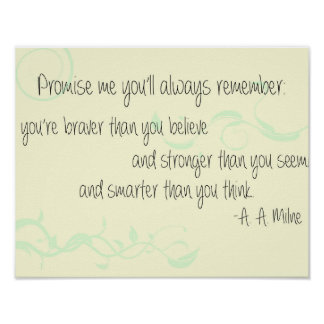 A. A. Milne Poster