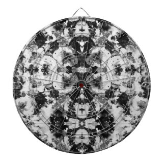 A abstract black white watercolor Pattern. Dartboard With Darts