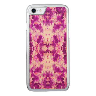A abstract pink fuchsia pattern. carved iPhone 7 case