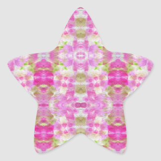 A abstract pink paper grunge watercolor Pattern. Star Sticker