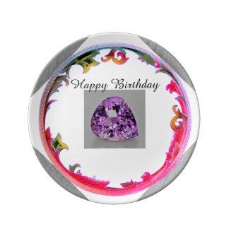 A Amethyst Birthday Plate