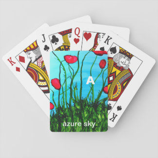 A - Azure Sky alphabet art playing cards