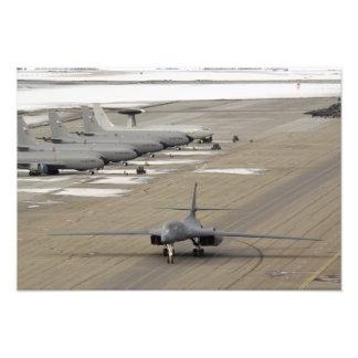 A B-1B Lancer arrives at Eielson Air Force Base Photo Art