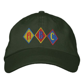 A B C EMBROIDERED BASEBALL CAPS