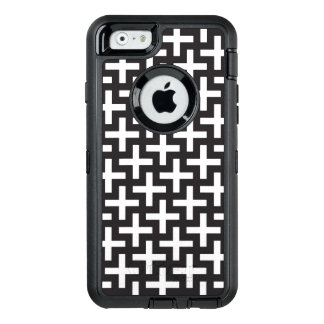 A b&w patterns made with 'plus' sign OtterBox iPhone 6/6s case