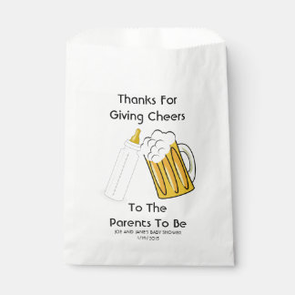 A Baby Is Brewing Favor Bags Favour Bags