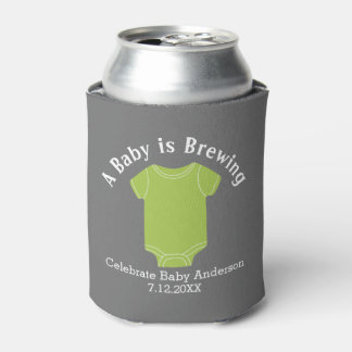 A Baby is Brewing - Gender Neutral Shower Favor Can Cooler