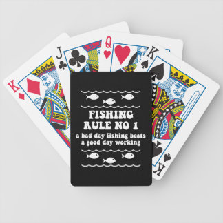 a bad day fishing bicycle playing cards