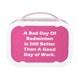 A Bad Day Of Badminton Lunchbox