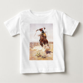 A Bad Hoss by Charles Marion Russell in 1904 Baby T-Shirt