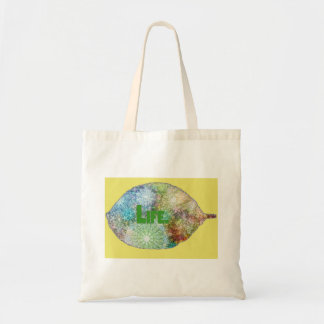 a Bag with colorful leaf