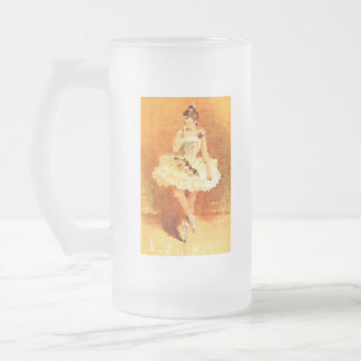 A ballet dance 16 oz Frosted Glass Mug
