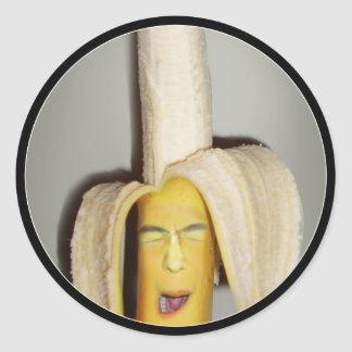 A Banana Splitting Headache Classic Round Sticker